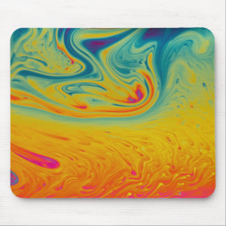 Psychedelic swirls mouse pad