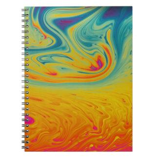 Psychedelic swirls notebook