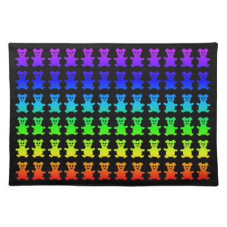 Psychedelic teddy bears. placemat