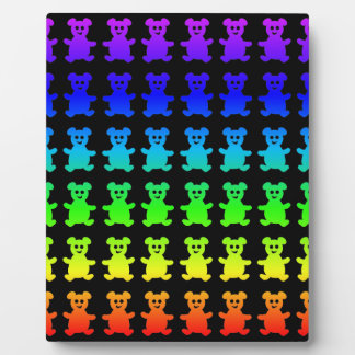Psychedelic teddy bears. plaque