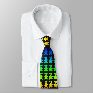 Psychedelic teddy bears. tie