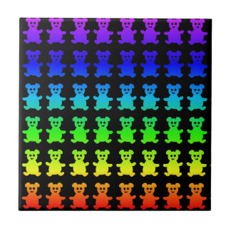 Psychedelic teddy bears. tile