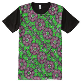 Psychedelic tee-shirt Fractal Kaleidoscope All-Over-Print T-Shirt