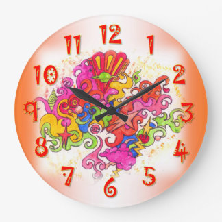 Psychedelic Thoughts Large Clock