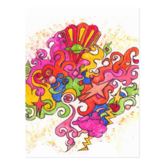 Psychedelic Thoughts Postcard
