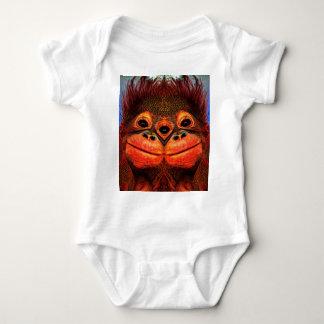 Psychedelic Three Eyed Monkey Baby Bodysuit