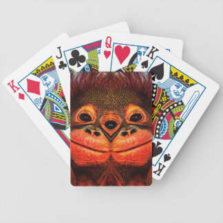 Psychedelic Three Eyed Monkey Bicycle Playing Cards