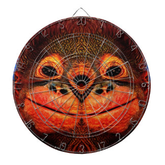 Psychedelic Three Eyed Monkey Dartboard
