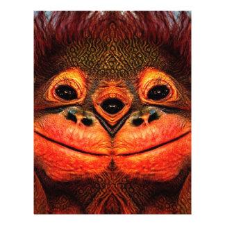 Psychedelic Three Eyed Monkey Letterhead