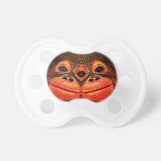 Psychedelic Three Eyed Monkey Pacifier