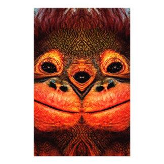 Psychedelic Three Eyed Monkey Stationery