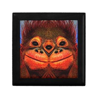 Psychedelic Three Eyed Monkey Trinket Box