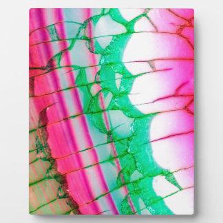 Psychedelic Tie Dye Quartz Plaque