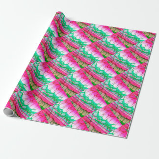 Psychedelic Tie Dye Quartz Wrapping Paper