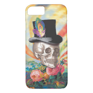 Psychedelic Top Hat Skull iPhone 7 Case