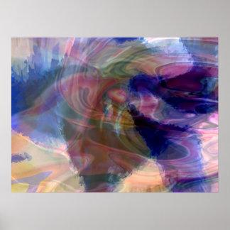 Psychedelic Tornado Poster