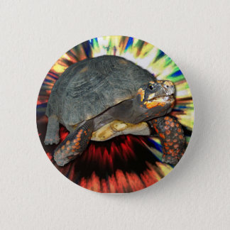 Psychedelic Tortoise 2 Inch Round Button