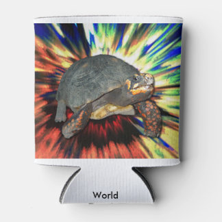 Psychedelic Tortoise Can Cooler
