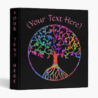 """Psychedelic Tree of Life, 1"""" 3 Ring Binders"""