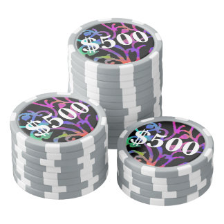 Psychedelic Tree of Life Poker Chips