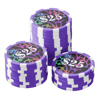 Psychedelic Tree of Life Poker Chips Set
