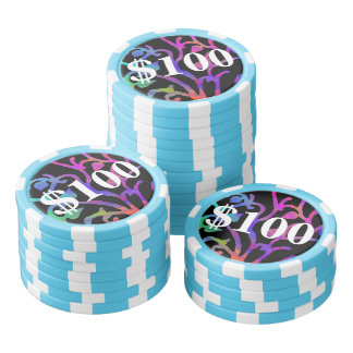 Psychedelic Tree of Life Set Of Poker Chips