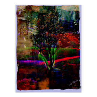 Psychedelic Tree Print