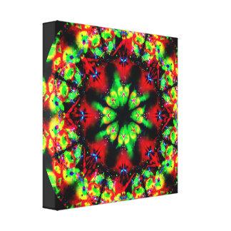 Psychedelic Trip Mandala Canvas Print