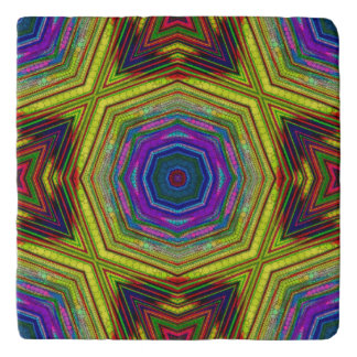Psychedelic Trippy Abstract Trivet