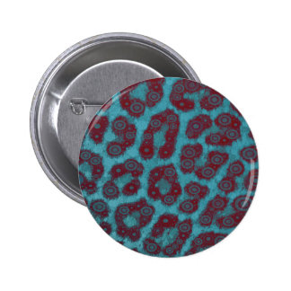 Psychedelic Trippy Cheetah Abstract 2 Inch Round Button