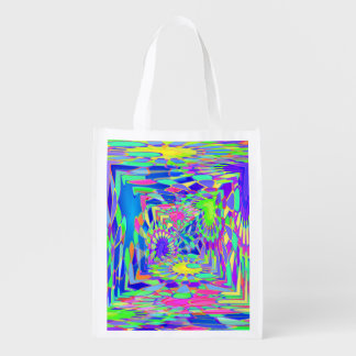 Psychedelic Tunnel Reusable Grocery Bag