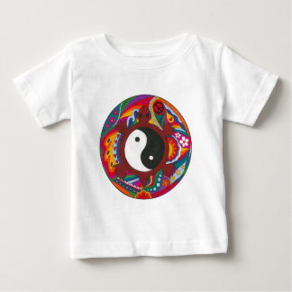 Psychedelic Turtle Yin Yang Baby T-Shirt