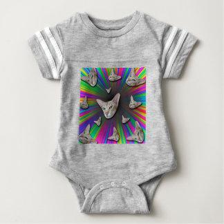 Psychedelic Tye Die Cat Baby Bodysuit