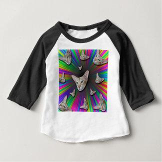 Psychedelic Tye Die Cat Baby T-Shirt