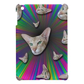 Psychedelic Tye Die Cat iPad Mini Cases