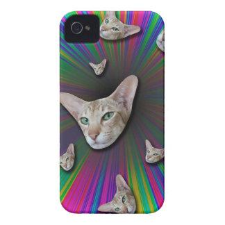 Psychedelic Tye Die Cat iPhone 4 Case-Mate Case