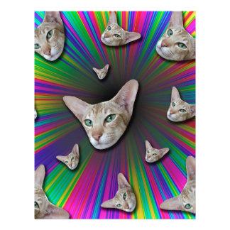 Psychedelic Tye Die Cat Letterhead
