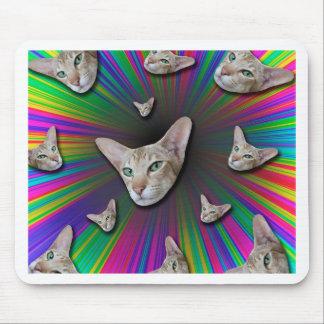 Psychedelic Tye Die Cat Mouse Pad