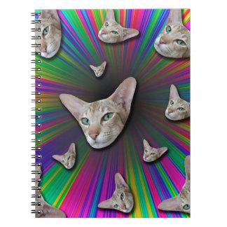 Psychedelic Tye Die Cat Notebooks