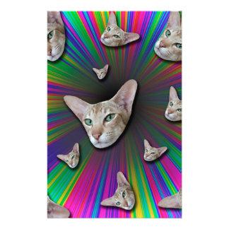 Psychedelic Tye Die Cat Stationery