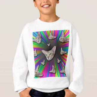 Psychedelic Tye Die Cat Sweatshirt