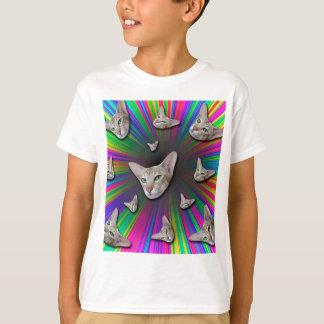 Psychedelic Tye Die Cat T-Shirt