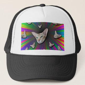 Psychedelic Tye Die Cat Trucker Hat