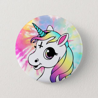 Psychedelic Unicorn 2 Inch Round Button