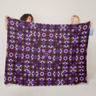 Psychedelic Unicorn Mandala Silk Pattern Quilt Fleece Blanket