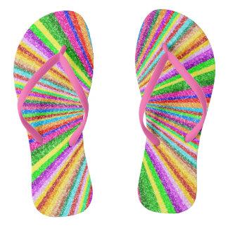 Psychedelic Vortex Flip Flops