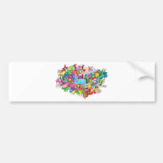 Psychedelic Wale Bumper Sticker
