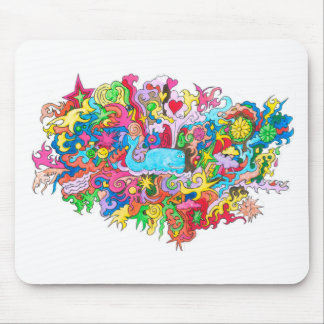 Psychedelic Wale Mouse Pad