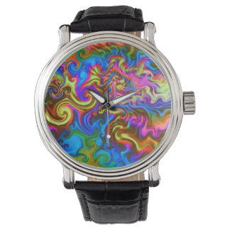 psychedelic watch-always party time! neon rainbow watch