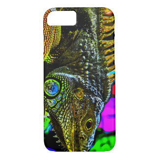 Psychedelic Watercolor Iguana iPhone 7 Case